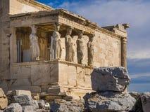 De Tempel van Parthenon, Athene, Griekenland Stock Afbeeldingen