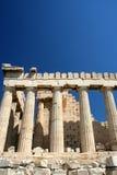 De tempel van Parthenon op Akropolis stock foto's