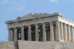 De tempel van Parthenon op Akropolis Stock Afbeeldingen