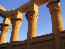 De tempel van Philae Stock Foto's