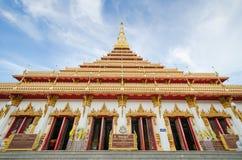 De tempel van Phramahathat Kaen Nakhon (of Phra die Nong Waeng) - Tha Royalty-vrije Stock Foto's