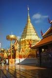 De tempel van Phrathat Doi Suthep van Wat Stock Afbeeldingen