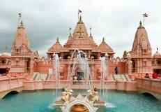 De tempel van Poichaswaminarayan dham - India Stock Foto