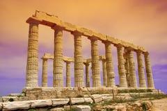 De Tempel van Poseidon Stock Afbeeldingen