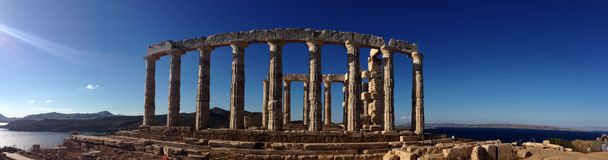 De Tempel van Poseidon stock fotografie
