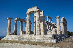 De tempel van Poseidon, Griekenland stock foto's