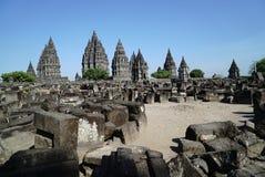 De tempel van Prambanan Stock Fotografie