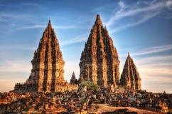 De tempel van Prambanan stock afbeelding