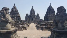 De tempel van Prambanan stock foto's