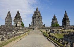 De tempel van Prambanan Royalty-vrije Stock Foto's