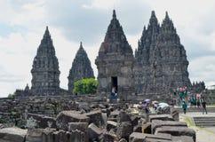 De tempel van Prambanan Stock Afbeeldingen