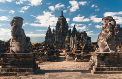 De tempel van Prambanan, Java, Indonesië Stock Afbeelding