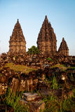 De tempel van Prambanan in yogyakarta Java Indonesië royalty-vrije stock afbeeldingen