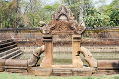 De tempel van Prasatmuang Tam in Buriram op Thailand Royalty-vrije Stock Fotografie