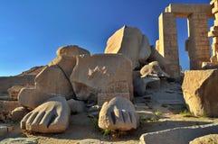 De Tempel van Ramesseum royalty-vrije stock afbeelding