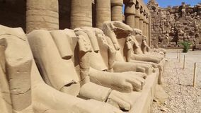De Tempel van rammenkarnak - de Video van Egypte HD stock footage