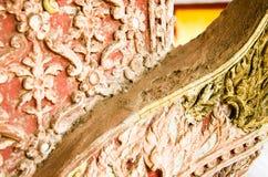 De tempel van Saket van het beeldhouwwerkontwerp is een oude Boeddhistische tempel in Vientiane Royalty-vrije Stock Foto