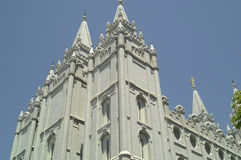 De Tempel van Salt Lake City Stock Fotografie