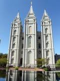 De Tempel van Salt Lake - Salt Lake City Utah Stock Afbeeldingen