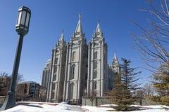 De Tempel van Salt Lake in Utah Royalty-vrije Stock Foto's