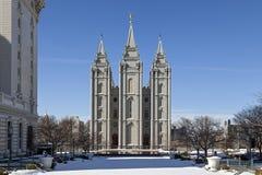 De Tempel van Salt Lake in Utah Stock Foto's