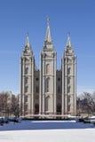 De Tempel van Salt Lake in Utah Royalty-vrije Stock Afbeeldingen