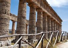De tempel van Segesta stock fotografie
