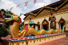 De tempel van Siam met draak Stock Foto