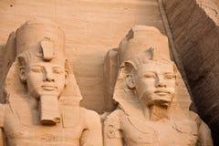 De tempel van Simbel van Abu stock afbeelding