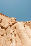 De tempel van Simbel van Abu Stock Foto