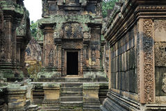 De Tempel van Srei van Banteay Stock Afbeelding