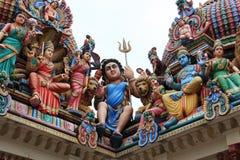 De Tempel van Sri Mariamman, de oudste Hindoese tempel van Singapore, heeft B Royalty-vrije Stock Afbeelding
