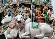 De Tempel van Srimariamman, de Hindoese tempel van Singapore. royalty-vrije stock foto