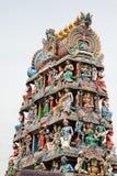 De Tempel van Srimariamman, de Hindoese tempel van Singapore stock afbeeldingen