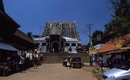 De tempel van Sripadmanabhaswamy, Thiruvananthapuram, Kerala, India stock afbeeldingen