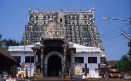 De tempel van Sripadmanabhaswamy, Thiruvananthapuram, Kerala, India stock foto's