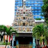 De Tempel van Sriveeramakaliamman, Singapore Stock Foto