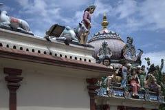 De Tempel van Sriveeramakaliamman, Weinig India, Singapore stock fotografie