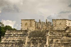 De tempel van strijders Stock Afbeelding