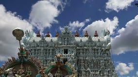 De tempel van Suchindram gewijd aan de goden Shiva, Vishnu en Brahma, die door Unesco wordt beschermd Kanniyakumari, Tamil Nadu,  stock video