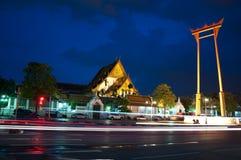 De Tempel van Suthat en de ReuzeSchommeling Stock Foto