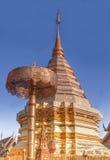 De Tempel van Suthep van Doi, Pagode in Thailand. Royalty-vrije Stock Afbeeldingen
