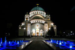 De tempel van Svetisava Stock Afbeelding