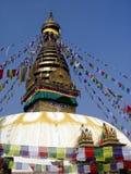 De tempel van Swayambhunath Stock Foto