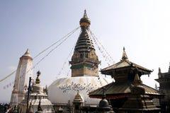 De Tempel van Swayambhunath - Nepal stock foto's