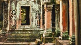 De Tempel van Ta Prohm in Angkor Stock Foto's