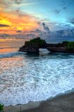 De Tempel van de Tanahpartij op Overzees in het Eiland Indonesië van Bali Stock Fotografie
