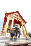 De tempel van Thailand met Olifant Royalty-vrije Stock Afbeeldingen