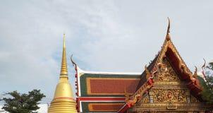 De Tempel van Thailand, Wat Bangplee-yainai in Samutprakan, Thailand royalty-vrije stock foto's