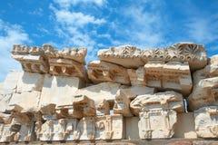 De tempel van Trajan in Pergamon Turkije Royalty-vrije Stock Foto's